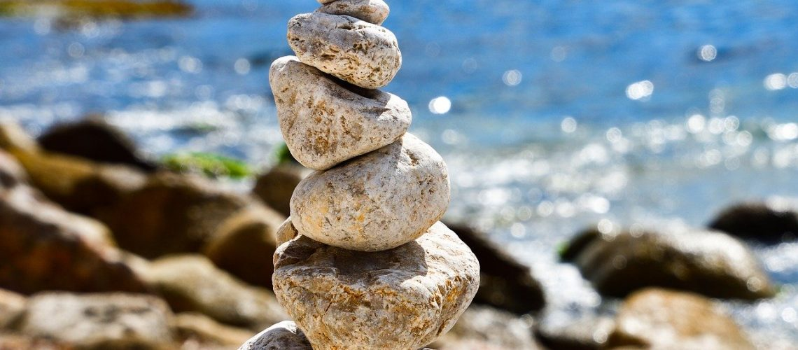 balance, pebbles, stacked pebbles
